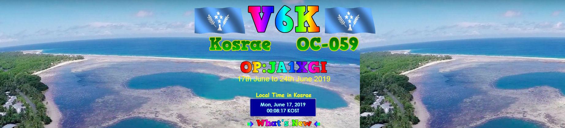 V6K Kosrae Island attivo in FT8