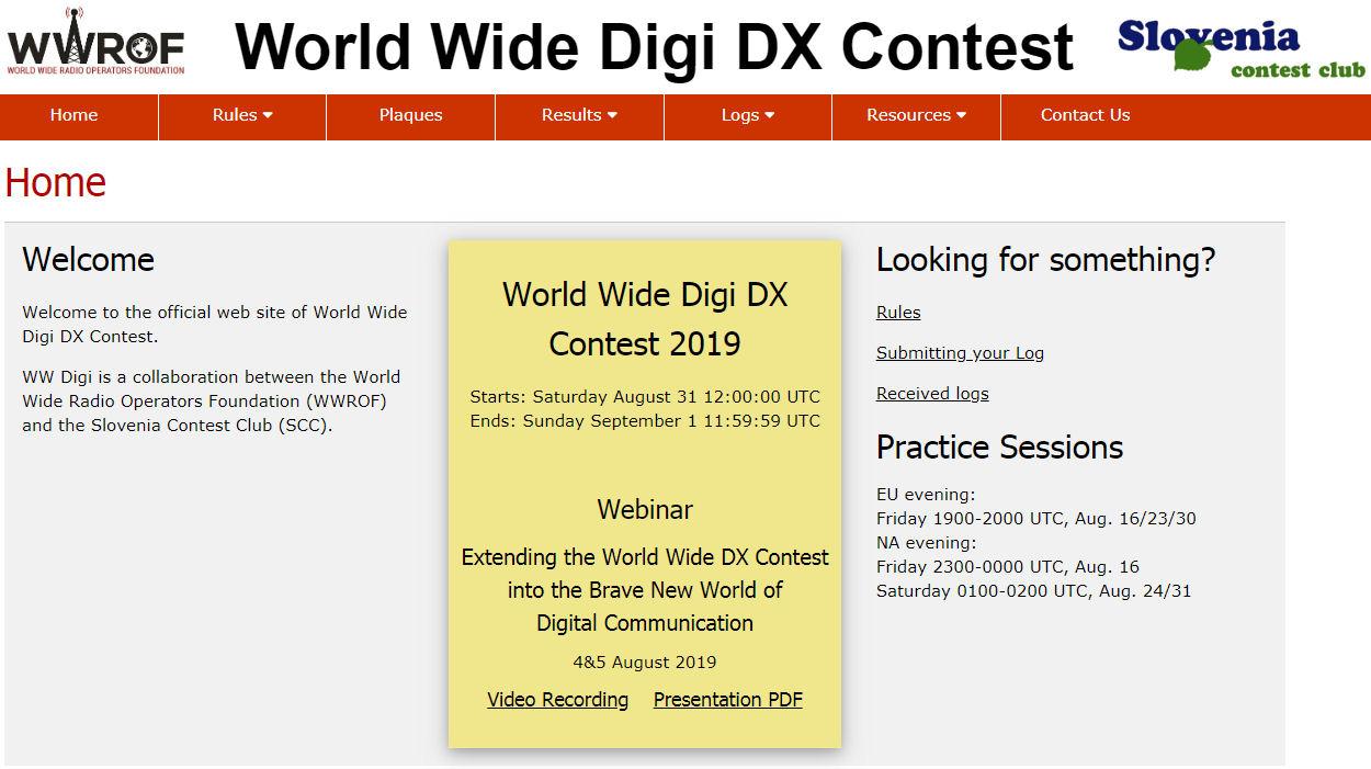 World Wide Digi DX Contest 2019