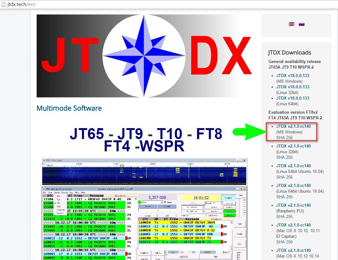 Rilasciata la nuova versione del software JTDX 2.1.0 rc140 con il protocollo FT4