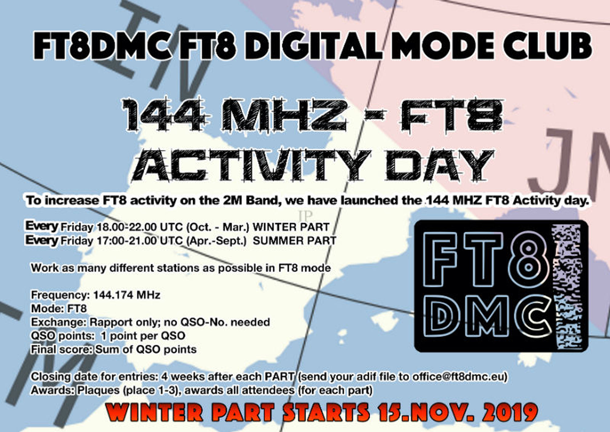 144 Mhz FT8 Activity Day