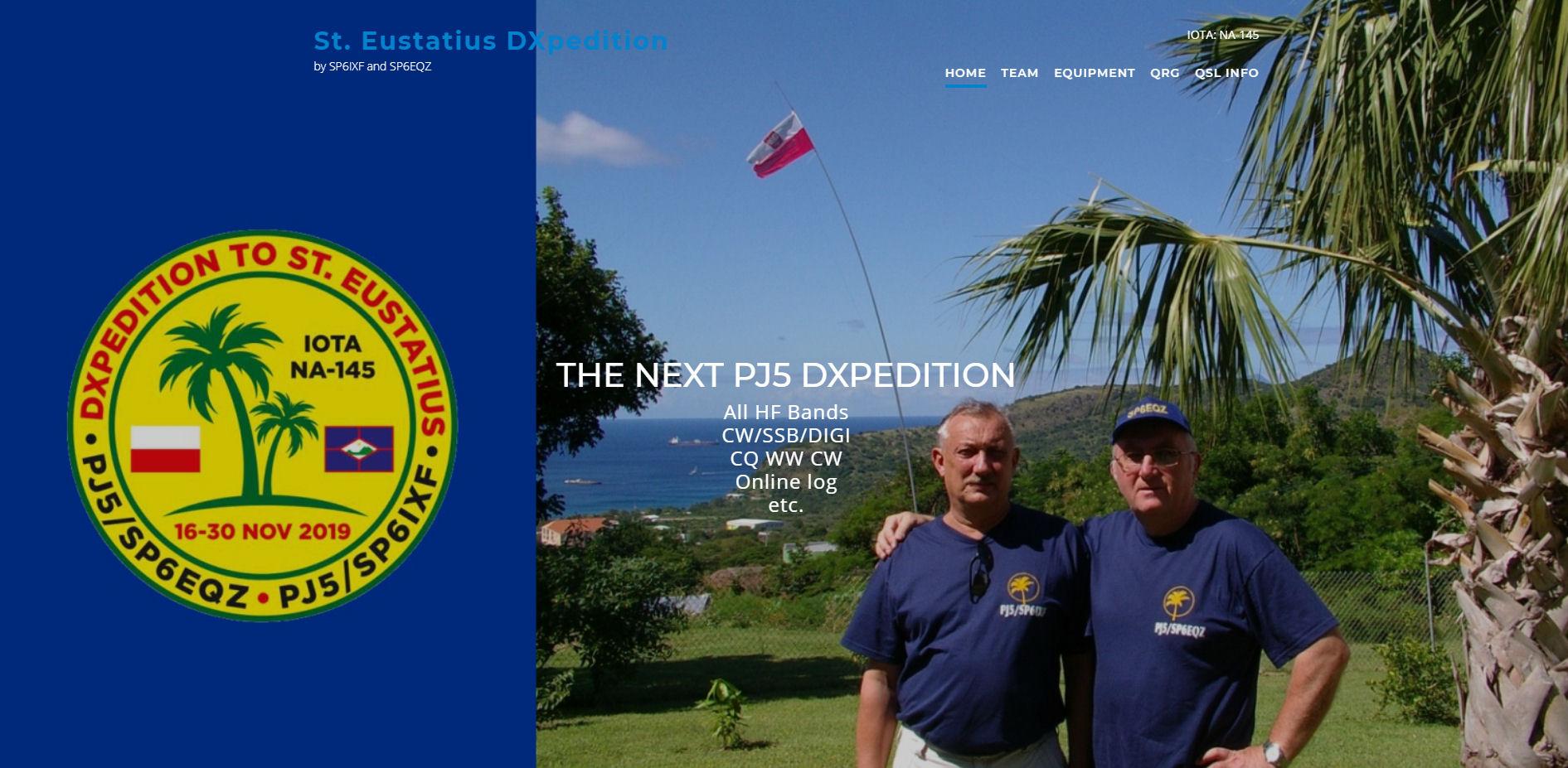 PJ5/SP6EQZ e PJ5/SP6IXF Sint Eustatius saranno attivi in FT8