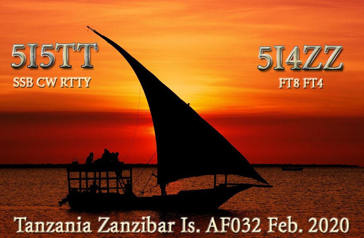 5I5TT e 5I4ZZ Tanzania Zanzibar saranno attivi in FT8