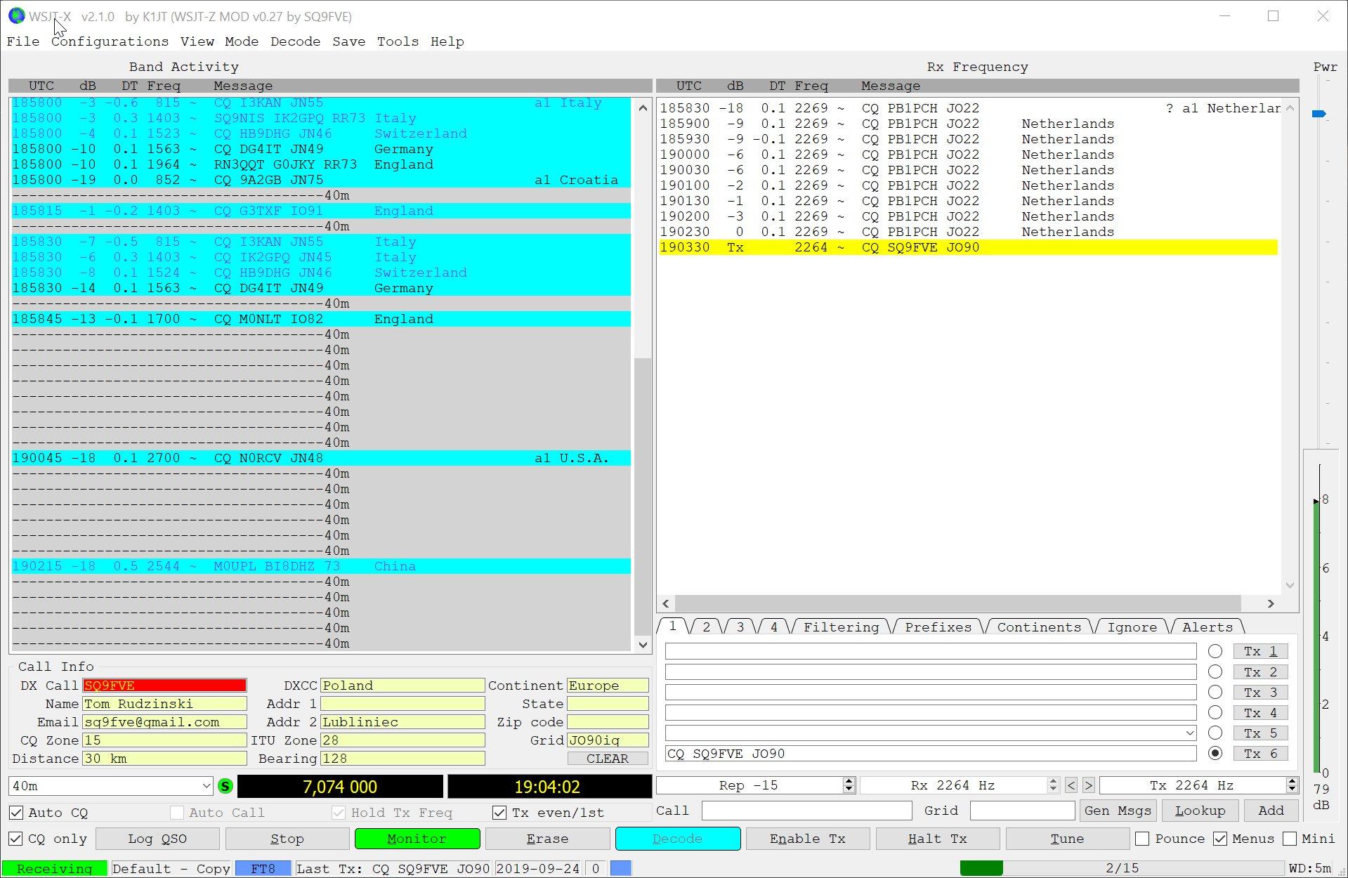WSJT-Z il nuovo software per FT8