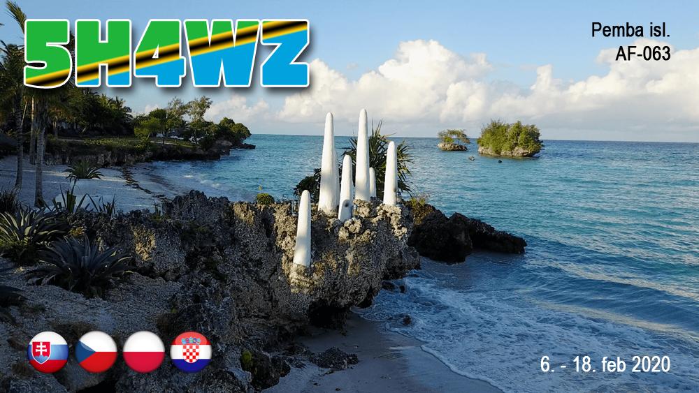 5H4WZ Pemba Island  saranno attivi in FT8