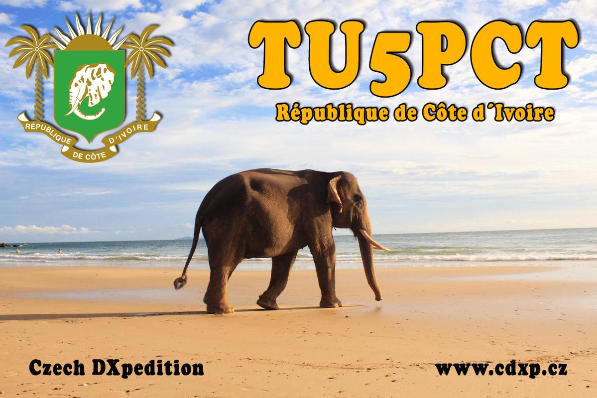 TU5PCT Costa d'Avorio saranno attivi in FT8