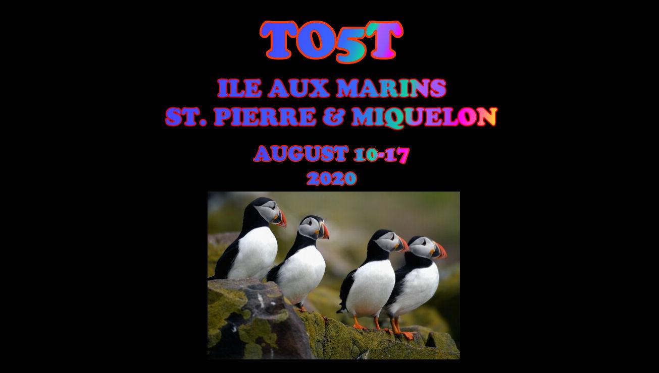 TO5T St. Pierre & Miquelon saranno attivi in FT8