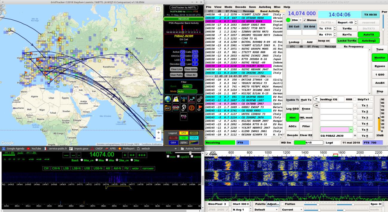 GridTracker, software per FT8/FT4