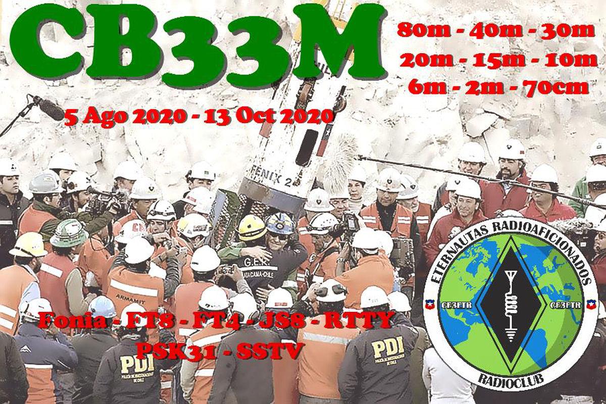 CB33M Cile saranno attivi in FT8