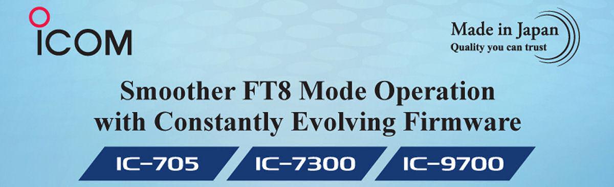 Nuovo firmware per Icom IC-705, IC-7300, IC-9700 per un funzionamento più fluido in modalità FT8