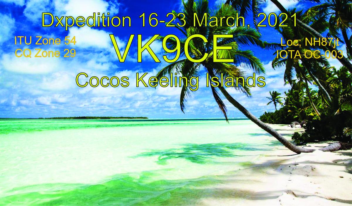 VK9CE Cocos Keeling Island attivi in FT8