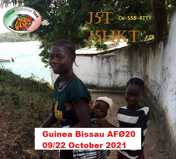 J5T e J5HKT Guinea Bissau saranno attivi in FT8